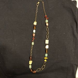Fossil Jewelry - Fossil Necklace in Stones/Beads/Wood